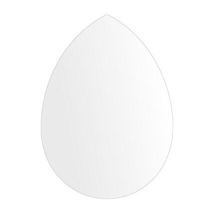 洗面鏡 浴室鏡 トイレ鏡 化粧鏡 日本製 高透過 超透明鏡 ペア(洋梨形) 430mm×600mm スーパークリアーミラー シンプルタイプ 国産 フレームレスミラー 風呂 鏡 壁掛け鏡 壁掛けミラー ウオールミラー 姿見 姿見鏡 ミラー