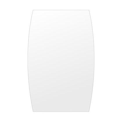 洗面鏡 浴室鏡 トイレ鏡 化粧鏡 日本製 高透過 超透明鏡 ドラム 400mm×610mm スーパークリアーミラー シンプルタイプ 国産 フレームレスミラー 風呂 鏡 壁掛け鏡 壁掛けミラー ウオールミラー 姿見 姿見鏡 ミラー