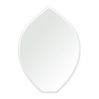 クリスタル ミラー 430x600mm リーク クリスタルカット 鏡 壁掛け ミラー 壁掛け 日本製 5mm厚 玄関 リビング 寝室 トイレ 取付金具と説明書 壁掛け鏡 壁に直付け ウオールミラー 姿見 全身 おしゃれ 軽量 擬宝珠 リークフラワー