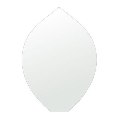 トイレ 鏡 430x600mm リーク シンプルカット トイレ鏡 鏡 トイレ 壁掛け ミラー 壁掛け 日本製 5mm厚 取付金具と説明書 壁掛け鏡 壁に直付け ウオールミラー 姿見 鏡 全身 おしゃれ 軽量 擬宝珠 リークフラワー