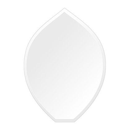 スーパークリアー ミラー 430x600mm リーク デラックスカット 鏡 壁掛け ミラー 壁掛け 日本製 5mm厚 玄関 リビング 寝室 トイレ 取付金具と説明書 高透過 高精彩 壁掛け壁 壁に直付け ウオールミラー 姿見 全身 おしゃれ 軽量 擬宝珠 リークフラワー