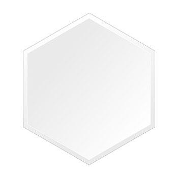 スーパークリアー ミラー 390x450mm ヘキサゴン デラックスカット 鏡 壁掛け ミラー 壁掛け 日本製 5mm厚 玄関 リビング 寝室 トイレ 取付金具と説明書 高透過 高精彩 壁掛け壁 壁に直付け ウオールミラー 姿見 全身 おしゃれ 軽量 正六角形 六角 六角形 ヘキサゴン