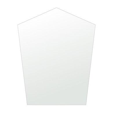 鏡 五角形 400x500mm シンプルカット 日本製 鏡 壁掛け ミラー 壁掛け 5mm厚 取付金具と説明書 壁掛け鏡 壁に直付け ウオールミラー 姿見 鏡 全身 おしゃれ 軽量 (5角 五角 ペンタゴン 五角鏡)