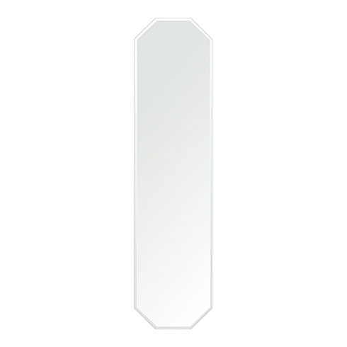 風水鏡 300x1200mm 八角形 クリスタルカット 日本製 風水 鏡 八角形 鏡 壁掛け ミラー 壁掛け 5mm厚 取付金具と説明書 壁掛け鏡 壁に直付け ウオールミラー 姿見 鏡 全身 おしゃれ 軽量 (8角 八角 オクタゴン 八角鏡)