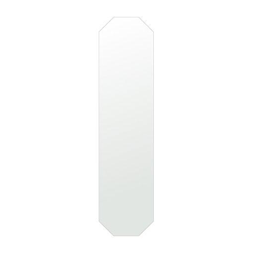 鏡 八角形 玄関 300x1200mm シンプルカット 日本製 鏡 壁掛け ミラー 壁掛け 5mm厚 取付金具と説明書 壁掛け鏡 壁に直付け ウオールミラー 姿見 鏡 全身 おしゃれ 軽量 (8角 八角 オクタゴン 八角鏡)