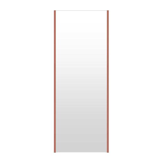 高精細ハイテクミラー 超軽量 割れない鏡 52~60x160cm 鏡 壁掛け 鏡 ロゼ(レッド) 割れないミラー 姿見 ミラー 全身 フィルムミラー 日本製 国産 全身鏡 全身ミラー 壁掛けミラー ウォールミラー おしゃれ 防災
