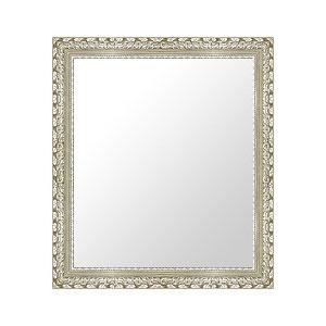 シルバー 銀 銀箔 仕立ての 鏡 ミラー 壁掛け鏡 壁掛けミラー ウオールミラー:G-20166-495mmxh596mm(フレームミラー 壁掛け 壁付け 姿見 姿見鏡 壁 おしゃれ エレガント 化粧鏡 アンティーク 玄関 玄関鏡 洗面所 トイレ 寝室 )