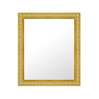 ゴールド 金 金箔 仕立ての 鏡 ミラー 壁掛け鏡 壁掛けミラー ウオールミラー:26-6704-493mmx594mm(フレームミラー 壁掛け 壁付け 姿見 姿見鏡 壁 おしゃれ エレガント 化粧鏡 アンティーク 玄関 玄関鏡 洗面所 トイレ 寝室 )