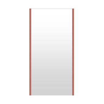 高精細ハイテクミラー 超軽量 割れない鏡 42~50x100cm 鏡 壁掛け 鏡 ロゼ(レッド) 割れないミラー 姿見 ミラー 全身 フィルムミラー 日本製 国産 全身鏡 全身ミラー 壁掛けミラー ウォールミラー おしゃれ 防災