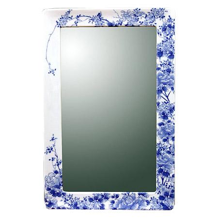 有田焼 伊万里焼 磁器 陶磁器 の 鏡 ミラー 壁掛け鏡 壁掛けミラー ウオールミラー:yt-w360h550-3.5k-tr(フレームミラー 壁掛け 壁付け 姿見 姿見鏡 壁 おしゃれ エレガント 化粧鏡 アンティーク 玄関 玄関鏡 洗面所 トイレ 寝室 )