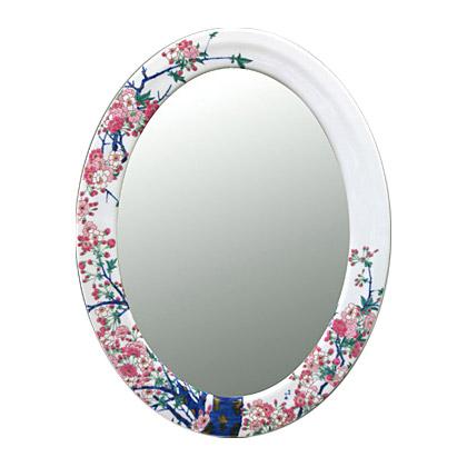 有田焼 伊万里焼 磁器 陶磁器 の 鏡 ミラー 壁掛け鏡 壁掛けミラー ウオールミラー:yt-w490h800-5k-sa(フレームミラー 壁掛け 壁付け 姿見 姿見鏡 壁 おしゃれ エレガント 化粧鏡 アンティーク 玄関 玄関鏡 洗面所 トイレ 寝室 )