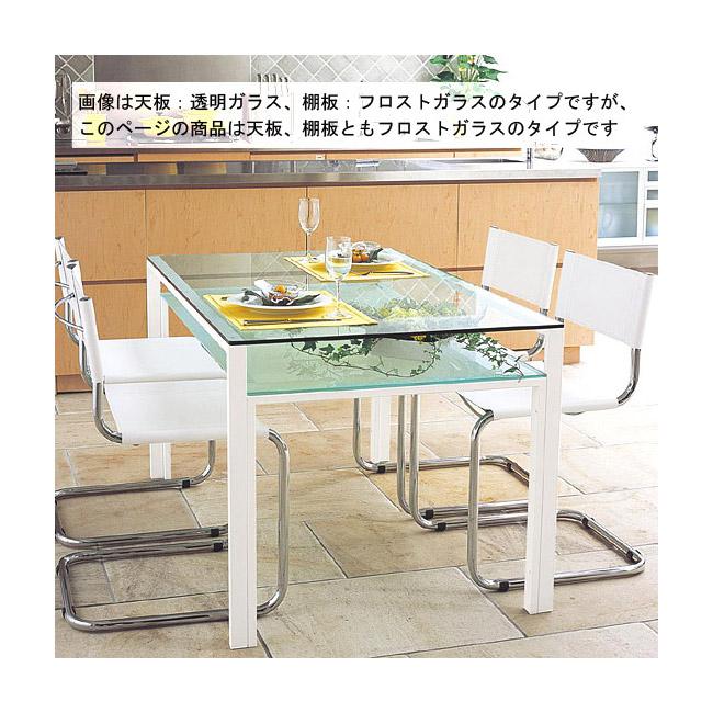 【送料無料】オフィス テーブル オフィスのテーブル テーブル オフィス 事務机 会議机 会議テーブル ミーティング テーブル ガラス テーブル ガラス製テーブル テーブル ガラス 白 白色 ホワイト(天板 棚板:フロストガラス):OFTAR-DaT-1r6
