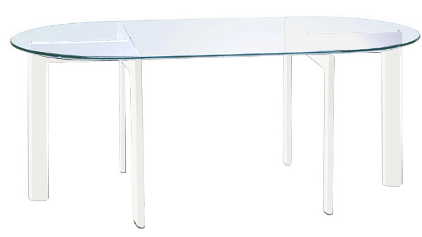 魅力的な価格 オフィステーブル ガラス 幅180cm 白 オフィス テーブル ガラス 会議テーブル ガラス ホワイト 白色 スチール アイアン 鉄 硝子 北欧 おしゃれ シンプル モダン(天板:透明ガラス), 快適ねこ生活 116ff4ff