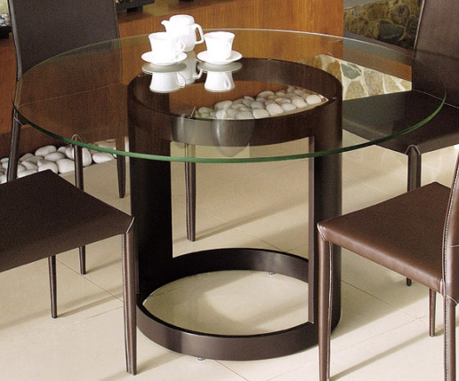 ダイニングテーブル ガラス 幅120cm 茶 ダイニング テーブル ガラス ブラウングレー 茶色 スチール アイアン 鉄 硝子 北欧 おしゃれ シンプル モダン (天板:透明ガラス)