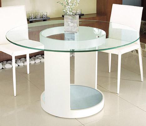 ダイニングテーブル ガラス 幅120cm 白 ダイニング テーブル ガラス ホワイト 白色 スチール アイアン 鉄 硝子 北欧 おしゃれ シンプル モダン(天板:透明ガラス 棚板:フロストガラス)