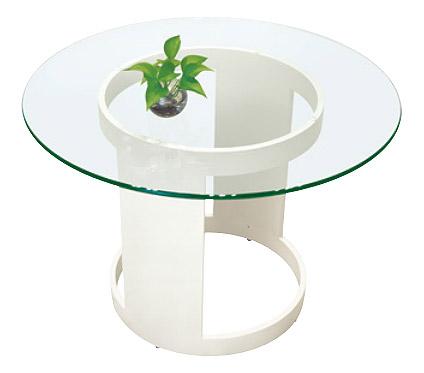 リビングテーブル ガラス 幅100cm 白 リビング テーブル ガラス ホワイト 白色 スチール アイアン 鉄 硝子 北欧 おしゃれ シンプル モダン(天板:透明ガラス)