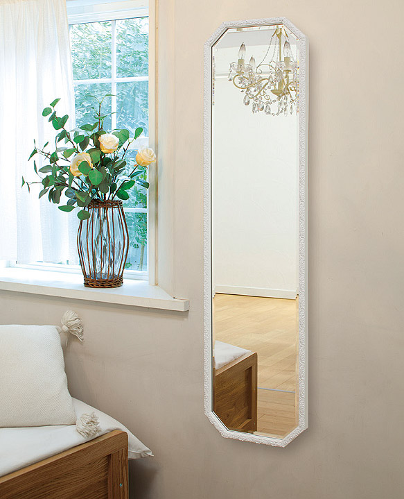 鏡 ミラー 壁掛け鏡 壁掛けミラー ウオールミラー:FaS-1r654(フレームミラー 壁掛け 壁付け 姿見 姿見鏡 壁 おしゃれ エレガント 化粧鏡 アンティーク 玄関 玄関鏡 洗面所 トイレ 寝室 額 フレーム 額縁 )