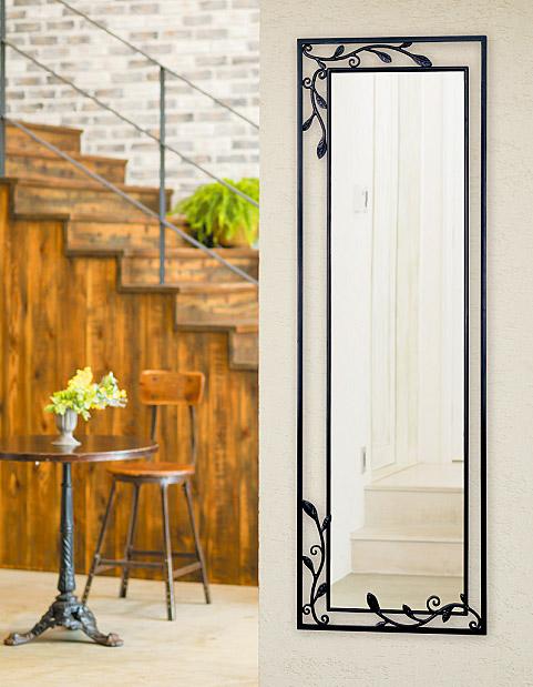 鏡 ミラー 壁掛け鏡 壁掛けミラー ウオールミラー:NaA-2r02-A(フレームミラー 壁掛け 壁付け 姿見 姿見鏡 壁 おしゃれ エレガント 化粧鏡 アンティーク 玄関 玄関鏡 洗面所 トイレ 寝室 額 フレーム 額縁 )