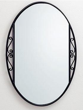 ロートアイアン アイアン 鉄 スチール の 鏡 ミラー 壁掛け鏡 壁掛けミラー ウオールミラー:NaAW-24r0(フレームミラー 壁掛け 壁付け 姿見 姿見鏡 壁 おしゃれ エレガント 化粧鏡 アンティーク 玄関 玄関鏡 洗面所 トイレ 寝室 )