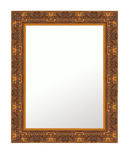 金箔 鏡 壁掛け ミラー 409x511 長方形 国産 壁掛け鏡 壁掛けミラー ウォールミラー 姿見 鏡 全身 吊り下げ レトロ アンティーク おしゃれ 額 フレーム 額縁 角型 四角 四角形 角型 四角 四角形 ゴールド 金 金色