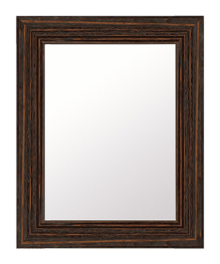 こげ茶 ダークブラウン色 鏡 壁掛け ミラー 419x521 長方形 国産 壁掛け鏡 壁掛けミラー ウォールミラー 姿見 鏡 全身 吊り下げ 木 木製 天然木 ウッド シンプル おしゃれ 額 フレーム 額縁 角型 四角 四角