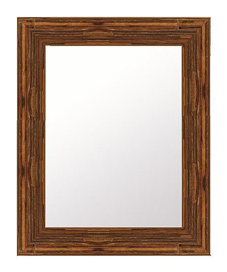 心を和らげるブラウン色 鏡 壁掛け ミラー 419x521 長方形 国産 壁掛け鏡 壁掛けミラー ウォールミラー 姿見 鏡 全身 吊り下げ 木 木製 天然木 ウッド シンプル おしゃれ 額 フレーム 額縁 角型 四角 四角 茶 茶色