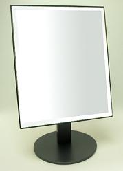 ベストセラーの日本製 高品質 業務用 卓上鏡 鏡 卓上 ミラー スタンドミラー 卓上ミラー 国産 角度調整(ブラック 黒 黒色)(角型 四角形)メイク コスメ おしゃれ かわいい