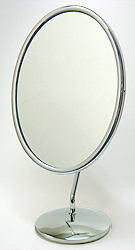 鏡の専門店 業務用 プロ仕様 鏡 ミラー 卓上鏡 卓上ミラー スタンドミラー ミラースタンド スタンド メーキャップミラー 化粧鏡 コスメミラー:シルバーフレーム(小)(片面鏡)