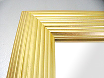 鏡 ミラー 壁掛け鏡 ウォールミラー:北山 金箔仕立て Mサイズ(壁掛け用鏡 ミラー)