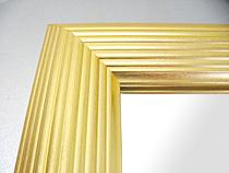 鏡 ミラー 壁掛け鏡 ウォールミラー:北山 金箔仕立て Lサイズ