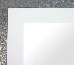 鏡 ミラー 壁掛け鏡 ウォールミラー:シャイニング ホワイト Mサイズ