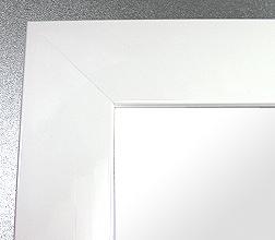 鏡 ミラー 壁掛け鏡 ウォールミラー:シャイニング ホワイト(ワイド)Lサイズ