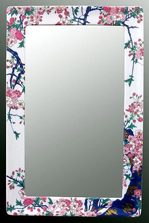 有田焼 伊万里焼 磁器 陶磁器 の 鏡 ミラー 壁掛け鏡 壁掛けミラー ウオールミラー:yt-w350h540-3.5k-sa(フレームミラー 壁掛け 壁付け 姿見 姿見鏡 壁 おしゃれ エレガント 化粧鏡 アンティーク 玄関 玄関鏡 洗面所 トイレ 寝室 )