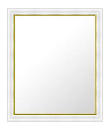 白 ホワイト ホワイト色 の 鏡 ミラー 壁掛け鏡 壁掛けミラー ウオールミラー:18-6535-393mmxh495mm(フレームミラー 壁掛け 壁付け 姿見 姿見鏡 壁 おしゃれ エレガント 化粧鏡 アンティーク 玄関 玄関鏡 洗面所 トイレ 寝室 )