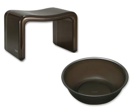 バスチェア&ウオッシュボールセット バスチェアー 洗面器 セット バス チェアー シャワーチェア ウォッシュボール 風呂椅子 風呂イス 風呂桶 湯おけ 風呂いす バススツール お風呂椅子 アクリル バスチェア:1t95854-19585h3
