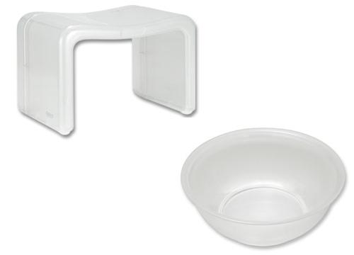 バスチェア&ウオッシュボールセット バスチェアー 洗面器 セット バス チェアー シャワーチェア ウォッシュボール 風呂椅子 風呂イス 風呂桶 湯おけ 風呂いす バススツール お風呂椅子 アクリル バスチェア:1t96195-19568h7