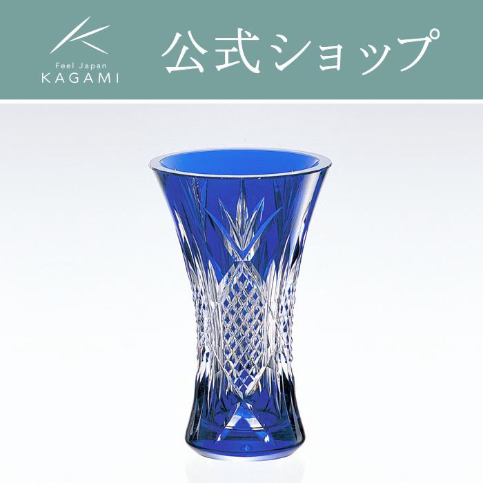 【メーカー直営店】カガミクリスタル KAGAMI花瓶F304-1752-CCB