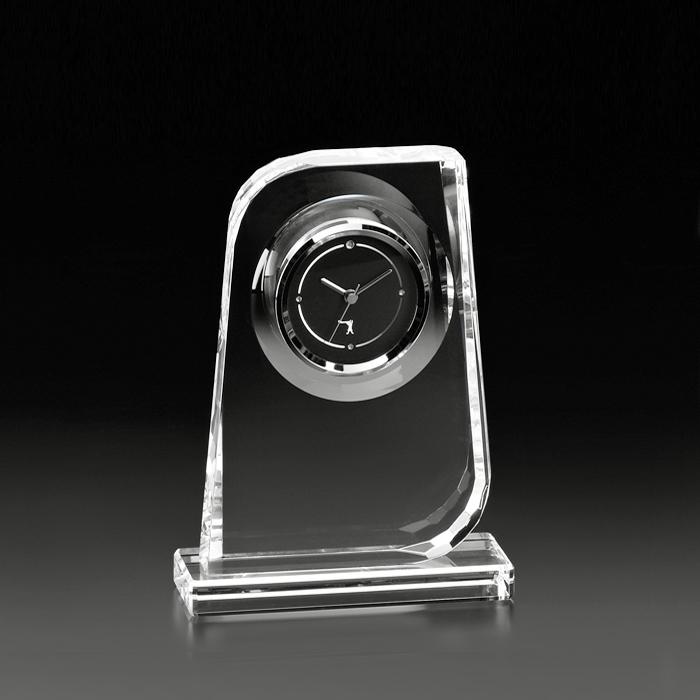 【メーカー直営店】カガミクリスタル KAGAMIオプティカル クロック置時計Q461