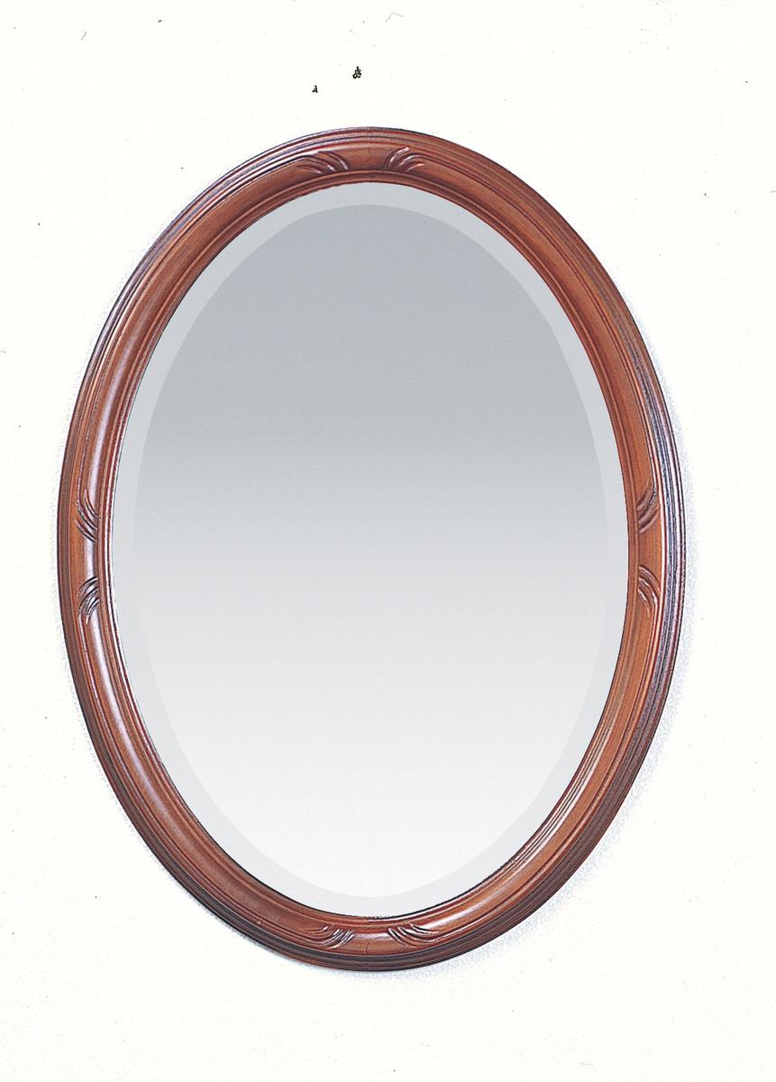吊り鏡、壁掛け鏡、、楕円鏡、イタリア製 べネ003 BR
