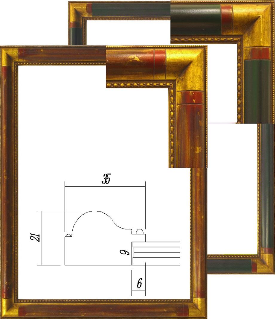 アンティーク額・ デッサン額(木製) デッサン額縁 水彩額「7510」大判 660x850mm