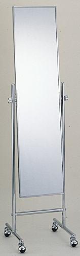 送料無料 キャスター付きミラー、大型ミラー、置き鏡、SFM104