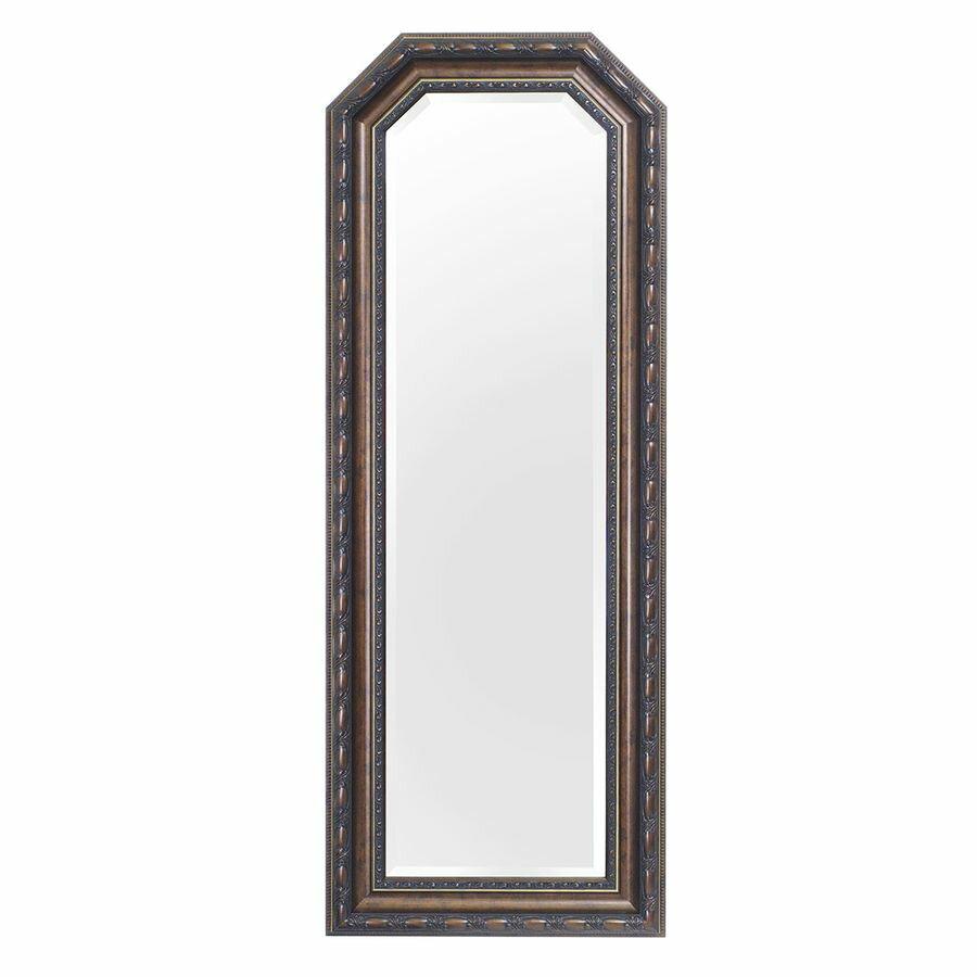 063A アンティークミラー、吊り鏡、大型ミラー、大きい鏡、壁掛け鏡 送料無料