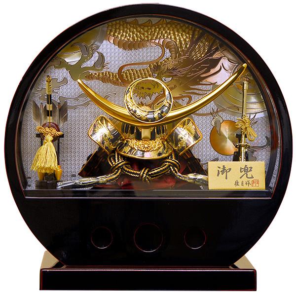 五月人形 佳月 K-136 上杉謙信 兜ケース飾り 端午の節句 5月人形 【2019年度新作】