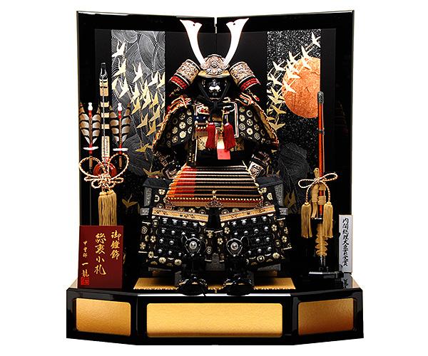 【平飾り】 K-316 鎧平飾り 【佳月オリジナル】 【鎧飾り】 【五月人形】 合せ鉢プレミアム本仕立鎧