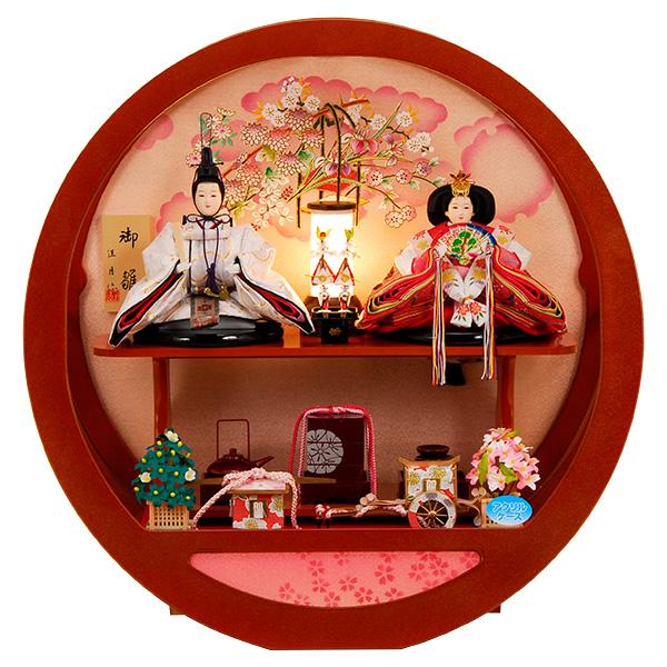 雛人形 ひな人形 K109 コンパクト 人形の佳月 雛人形 雛 ケース飾り 雛 雛名匠・逸品飾り 高級品 即日発送