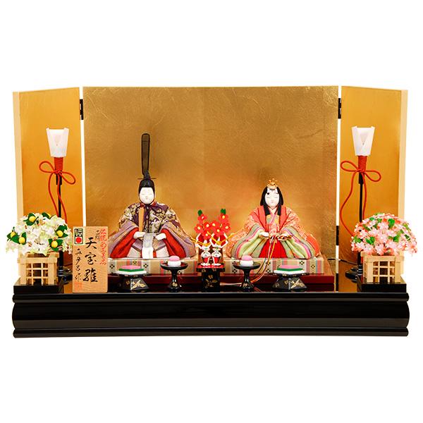 雛人形 K405木目込み人形飾り 真多呂作【ひな人形】【佳月】【かげつ】【送料無料】【平飾り】【高級品】