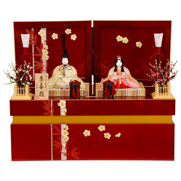 雛人形 K413木目込み人形飾り 収納飾り 真多呂作【ひな人形】【人形の佳月】【送料無料】【高級品】