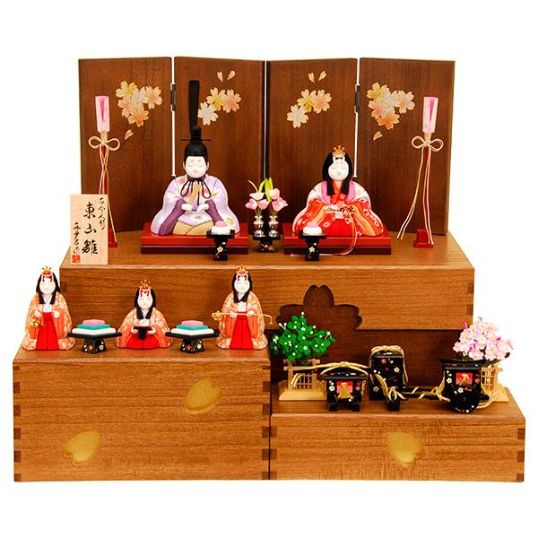 雛人形 K421木目込み人形飾り 真多呂作【ひな人形】【佳月】【かげつ】【送料無料】【段飾り】【高級品】