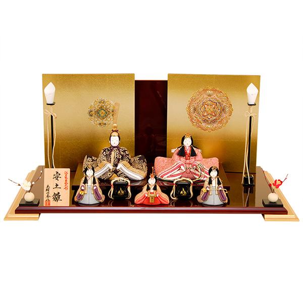 雛人形 K460 一秀作 木目込人形 【雛人形】【人形の佳月】【木目込人形】【高級品】【送料無料】k460