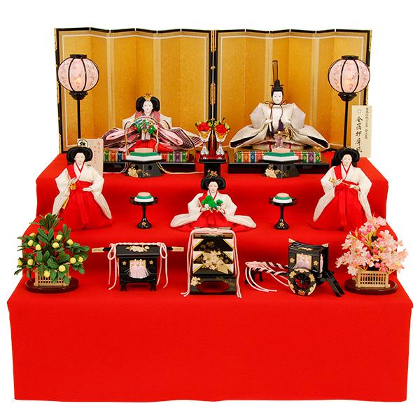 正絹 雛人形 京雛114【ひな人形】【佳月】【かげつ】【三段飾り】【本着造り】【送料無料】京雛114